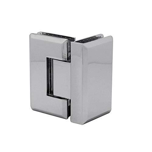 90° Glas-Glas-Scharnier Pendelscharnier Verchromt Wand-Halterung Dusche Duschtür Bad Türscharnier Beschlag Set Glanz, Variante:Modell 3-1 Stück