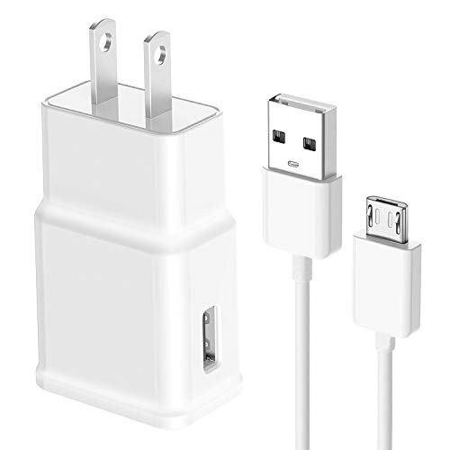 Cuziss Wall AC Power Charger + USB Charging Data Cable for Samsung Galaxy Tab 3 4 Tablet