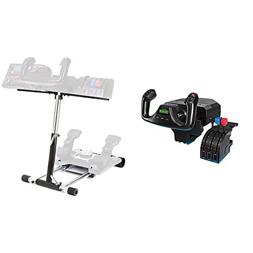 Wheel Stand Pro Appositamente progettato per supportare il sistema di giogo a volo & Logitech G Saitek Pro Flight Yoke System, Sistema Leva Di Controllo Di Volo, Quadrante Acceleratore