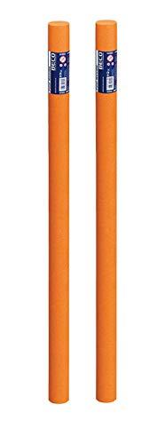 beco - PoolNoodle Compact - PoolNudel Pool Nudel Noodle - Aqua Fitness 160cm x 7,5cm (orange, 2 Poolnudel)