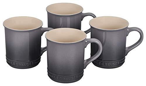 Le Creuset Stoneware Set of 4 Mugs, 14 oz. each, Oyster