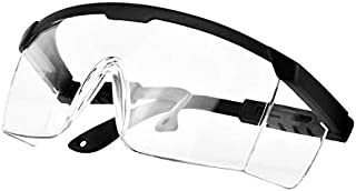 PETLESO Safety Goggles Protective Eyewear Goggles, Anti-Droplet Debris Googles for Work Lab, Black