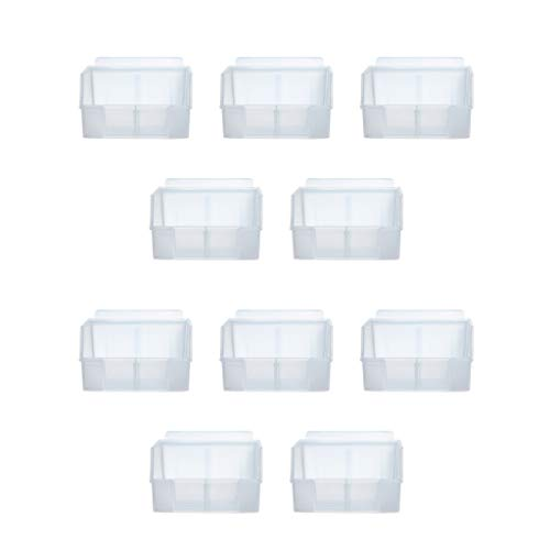 Crownwall Universal Slatwall Clear Storage Bins - Small, 10-Pack