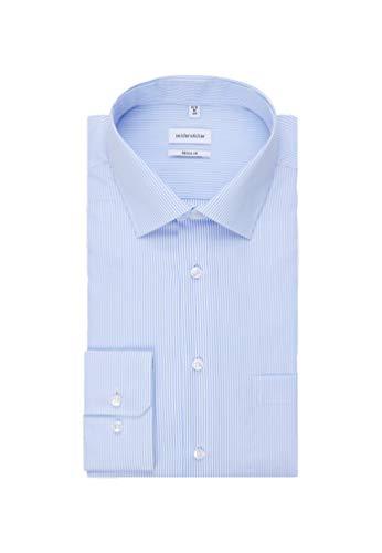 Seidensticker Herren Business Hemd Regular Fit Businesshemd, Blau (Hellblau 11), (Herstellergröße: 40)
