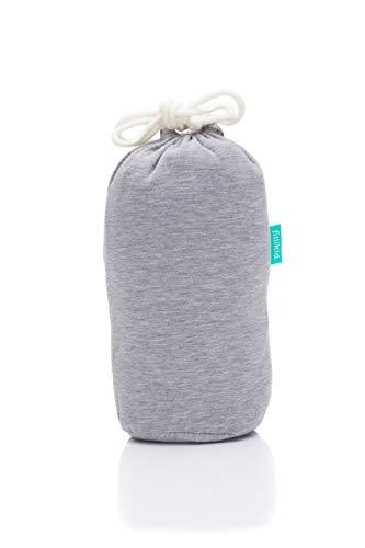 Fillikid Tragetuch Exclusiv/Babytragetuch Kindertragetuch waschbar/Sling Tragetuch für Baby/Babybauchtrage für Neugeborene bis 15 kg, Design:hellgrau
