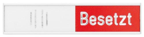 Franken BS0117 Manuelle Besetztanzeige Deutsch, 102 x 27,4 mm, rot/grün