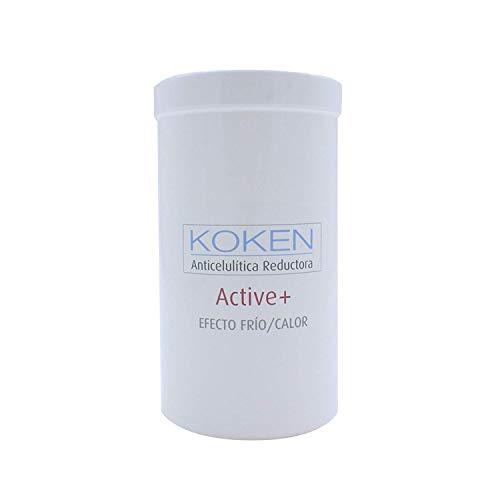 KOKEN – Crema Anticelulítica ACTIVE + efecto frío – Calor 1000 ml – quemagrasas – reafirmante – remodeladora – crema reductora