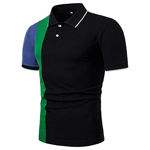 XJWDTX Kurzärmeliges Herren-Polo-Shirt Mit Lässiger Farbabstimmung