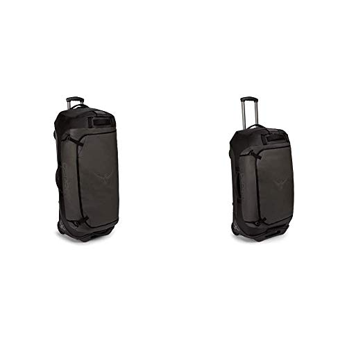 Osprey Europe Rolling Transporter 120 Unisex Durable Wheeled Travel Pack - Black (O/S) & Rolling Transporter 90 Unisex Durable Wheeled Travel Pack - Black (O/S)