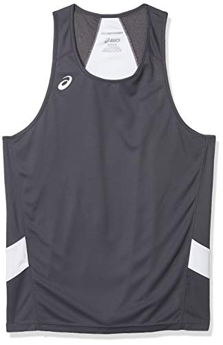 ASICS Team Sweep Singlet, Steel Grey/White, Large