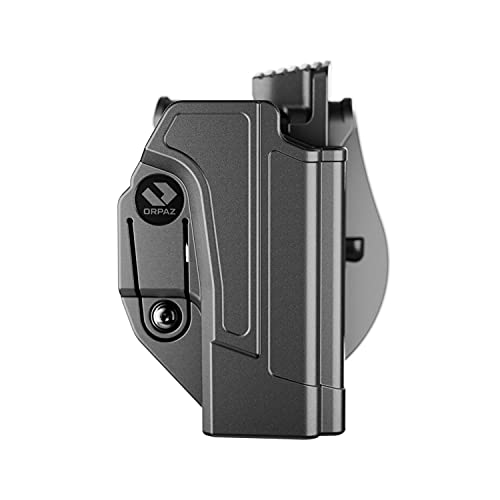 Orpaz Holster Compatible with Glock 19 Holster (Right Hand, Level 2 Thumb Release Paddle Holster)