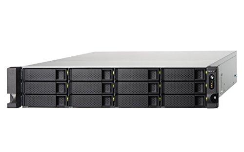 QNAP TS-1253BU-4G Rackmount NAS-System, PCIe-Slot, USB 3.1, M.2 SSD Cache, 10GbE, schwarzsilber