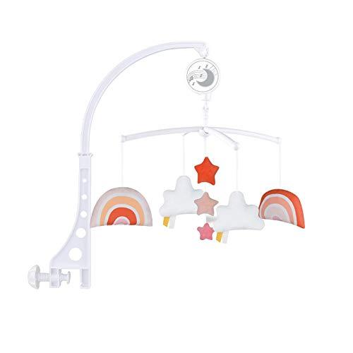 Camisin Baby Crib Mobile Cama Infantil Decoración Juguete Colgando Musical Vivero Cama Campana con Brazo y Melodías para Niños - A