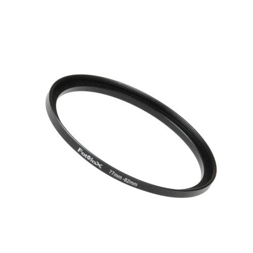 Fotodiox Step Up Ring aus eloxiertem schwarzem Metall, Keine, schwarz, 77-82 mm