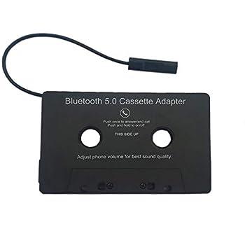 Bluetooth Cassette Adapter,car Audio Aux Cassette Adapter,Universal Car Wireless Cassette Tape to Aux Adapter Smartphone Cassette Adapter,Black