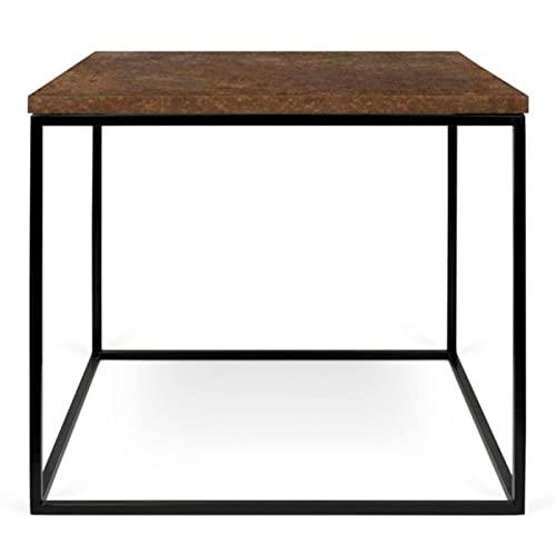 Paris Prix - Temahome - Table D'appoint Gleam 50cm Rouille & Métal Noir