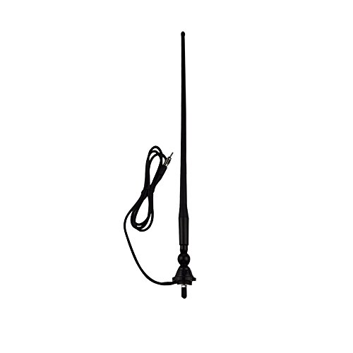 Herdio Waterproof Marine Radio Antenna Rubber Duck Dipole Flexible Mast FM AM Antenna for Boat Car ATV UTV RZR SPA-Black