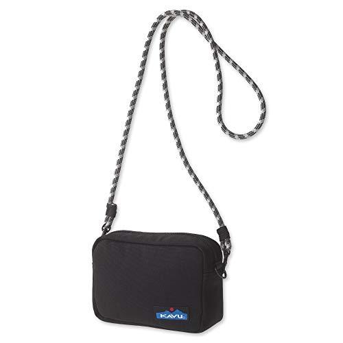 KAVU Nootka Crossbody Bag Padded Rope Strap Purse - Black