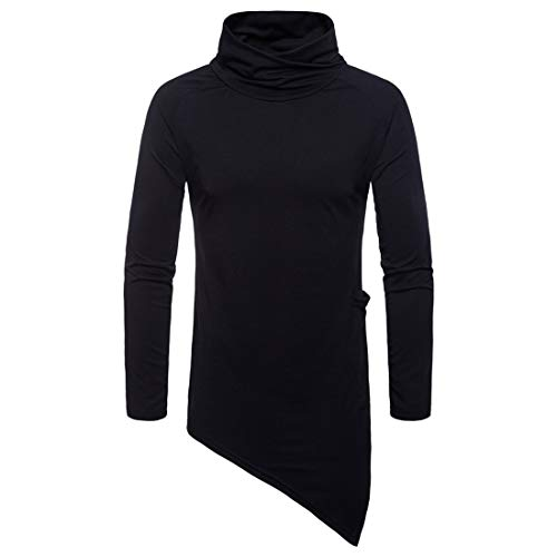 Z&Y Glaa Men's Jumpers Turtle Neck Cable Knitted Jumpers Slim Fit Pollover Sweater Casual Long Sleeve Hoodies Solid Colors Sweatshirt Turtleneck Sweater Casual Ribbed Slim Fit Knitted Jumper