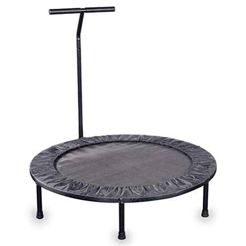 Foldable Trampoline with Handle Profession Fitness Trampoline, with T Handlebar Super Light High Elasticity Rebounder, Zero Gravity Motion Training Aerobic Bouncer Load: 150kg for Exercise and Burning