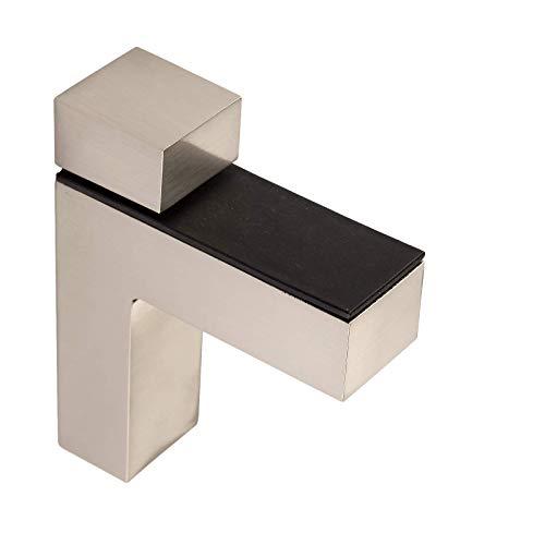 4 Stück SO-TECH® Regalbodenhalter HULK Edelstahloptik Glasbodenträger Bodenträger für Glas- und Holzböden bis max. 45 mm Stärke