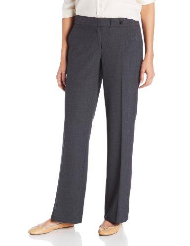 Calvin Klein Women's Classic Fit Straight Leg Suit Pant, Charcoal, 8