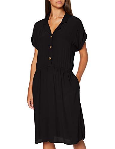 ESPRIT Damen 060EE1E341 Kleid, 001/BLACK, 44
