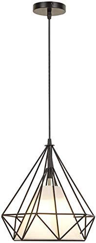 Lustre Suspensión iindustrielle 25cm, lámpara de techo Pantalla (1pc) Negro