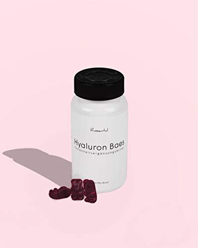 ROSENTAL ORGANICS  Hyaluron Baes Für Strahlende Haut I 100% NATÜRLICH & VEGAN - Nahrungsergänzungsmittel Mit Hyaluronsäure und Camu-Camu Extrakt (Wild Berry Geschmack) (Hyaluron Baes)