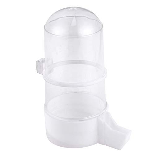 Balacoo comedero y bebedero automático comedero de plástico para pájaros con forma de botella para pequeños pájaros que beben alimentación accesorios para jaulas de pájaros