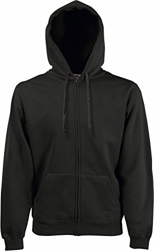 Fruit of the Loom Hooded Sweat-Jacket, Charcoal, XL
