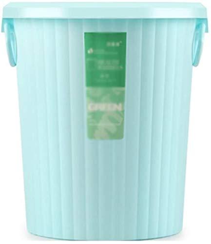 European Style Keuken Slaapkamer Interior Sunset Garbage prullenbak Toilet House zonder deksel trash Plastic Carry Handie Ontwerp Trash (Kleur: Roze, Maat: 27 * 30.5), Afmetingen: 27 * 30,5, Kleur: Br