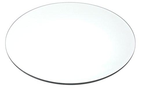 Glasplatte MIRROR Spiegel Glas Platte Teller Kerzenplatte flach rund, Ø 30 cm