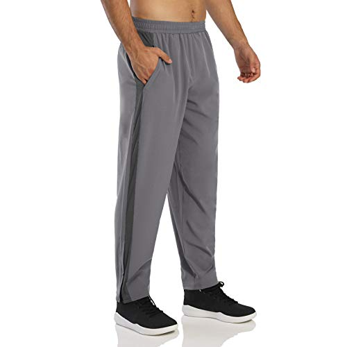 Huntrly Men's Sports Pants Loose Casual Breathable Quick-Drying Elastic Waist Fitness S