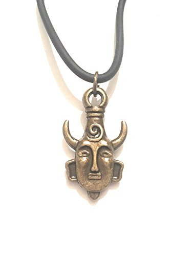 giulyscreations Collana Supernatural Metallo Nichel Free Dean Winchester Medaglione Umanoide Tribale Serie TV Fantasy Cosplay