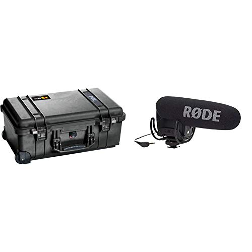 PELI 1510 High-impact Resistant Professional Trolley, Black & RØDE VideoMic Pro Compact Directional On-camera Microphone