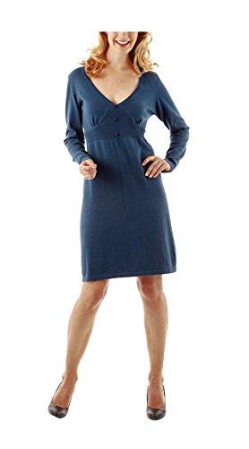 Aniston Damen-Kleid Strickkleid Blau Größe 38
