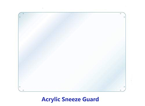SNEEZE GUARD DIVIDER PROTECTION BARRIER SHIELD CHECKOUT COUNTER 1/16 ACRYLIC (48' Wide x 30' Tall)