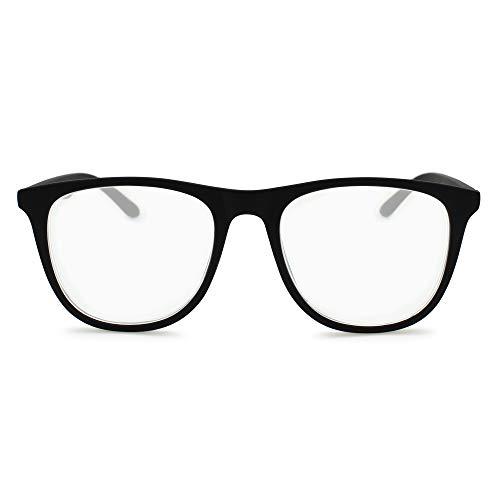 Square Computer Reading Glasses for Men Women - Vintage Wayfarer Magnifying Lenses Readers R-623P (+2.50, Matte Black)