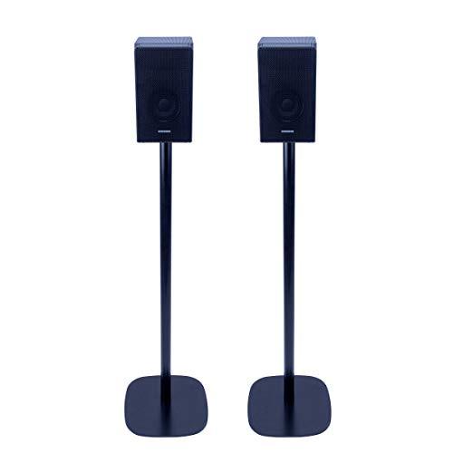 Vebos Bodenständer Samsung HW-Q950T schwarz Set - Optimales Erlebnis in jedem Raum - ermöglicht Ihnen Ihr Samsung HW-Q950T genau dort aufzustellen, wo Sie es wollen - kompatibel zu HW-Q950T