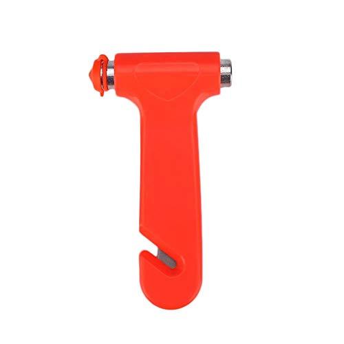Martillo De Seguridad Del Coche Interruptor De Cristal De La Ventana Del Coche Con El Cortador De Cinturón De Seguridad Herramienta De Escape De Emergencia 2pcs Rojos