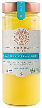 Ahara Rasa Vanilla Dream Truly Grassfed Ghee Lactose & Casein Free USDA No Salt No GMOs Made in USA Animal Welfare Approved 19oz
