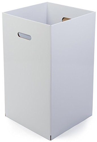 Displays2go Cardboard Dump Bin, Sold in Sets of 6, Corrugated Cardboard, Floor Standing – White Finish (CTRWHRDB)