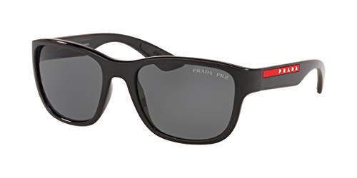 Prada Sport - Gafas de sol unisex para adulto PS 01US Negro 55