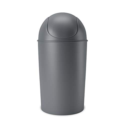 Umbra Grand Swing Top Garbage Large Capacity 10 Gallon Kitchen Trash Can with Lid, Indoor/Outdoor...