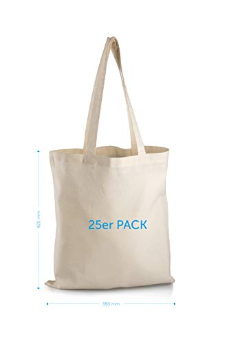 Katoenen tassen 25 / perfect om te beschilderen & bedrukken/geschikt voor jong & oud/gecertificeerd / 42 x 38 cm