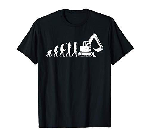 Baggerführer Evolution Bagger Baggerfahrer T-Shirt