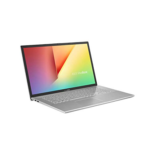 ASUS VivoBook 17 F712FA (90NB0L61-M06470) 43,9 cm (17,3 Zoll, Full HD, WV, matt) Notebook (Intel Core i5-10210U, Intel UHD-Grafik 620, 8GB RAM, 512GB SSD, Windows 10) Transparent Silver
