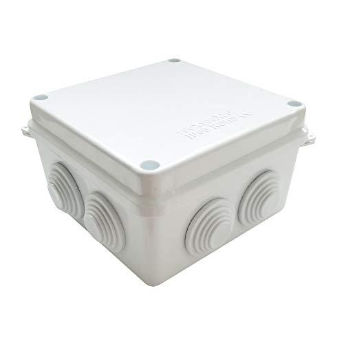 Waterproof Junction Box Enclosure Medium ABS Plastic Case IP65 Weatherproof Dustproof For CCTV LED Electrical Outdoor Indoor Wiring (3.9x3.9x2.8 )