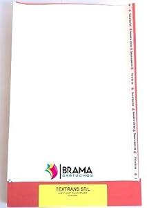 Bramacartuchos - 10 Hojas de Papel Transfer para Camisetas Blancas y Telas de Algodon para impresoras Laser.(Alimentar lado largo) Hp, Brother, Canon, Samsung